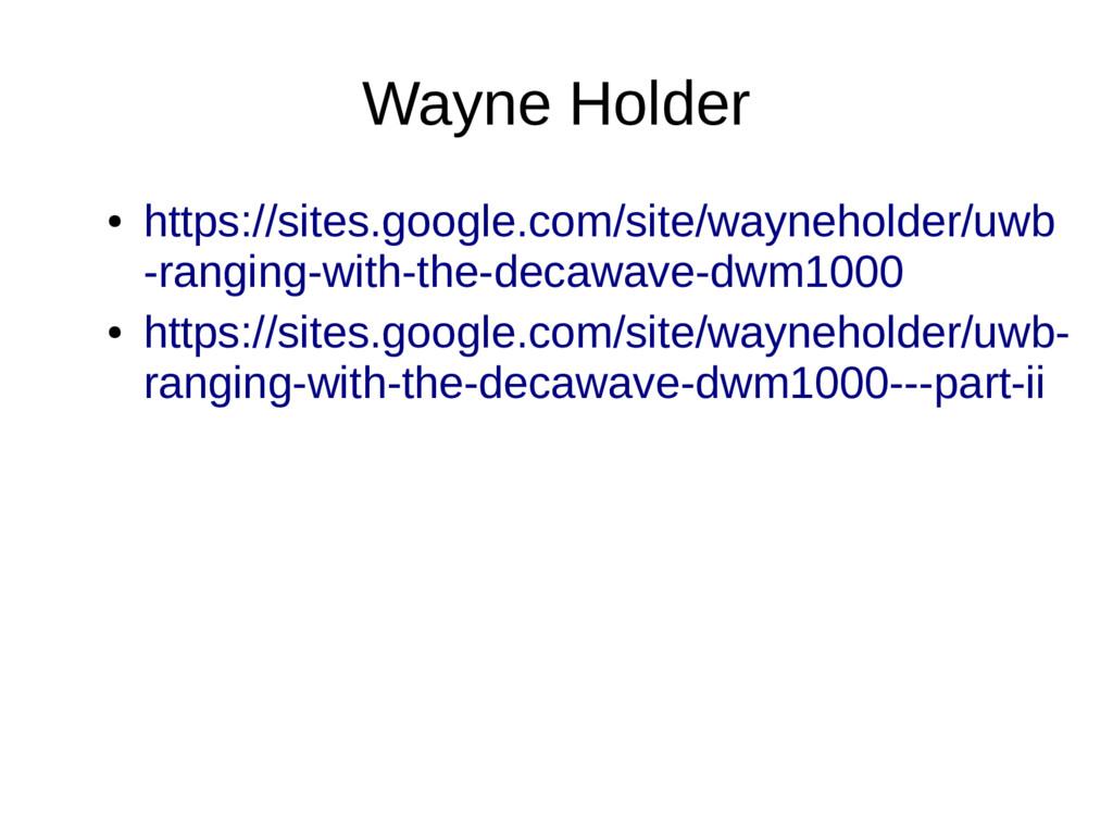 Wayne Holder ● https://sites.google.com/site/wa...