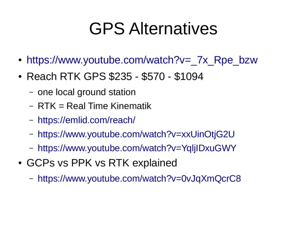 GPS Alternatives ● https://www.youtube.com/watc...