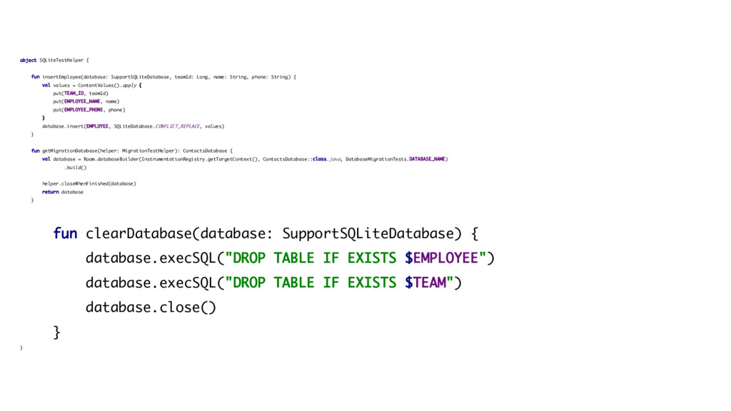 object SQLiteTestHelper { fun insertEmployee(da...
