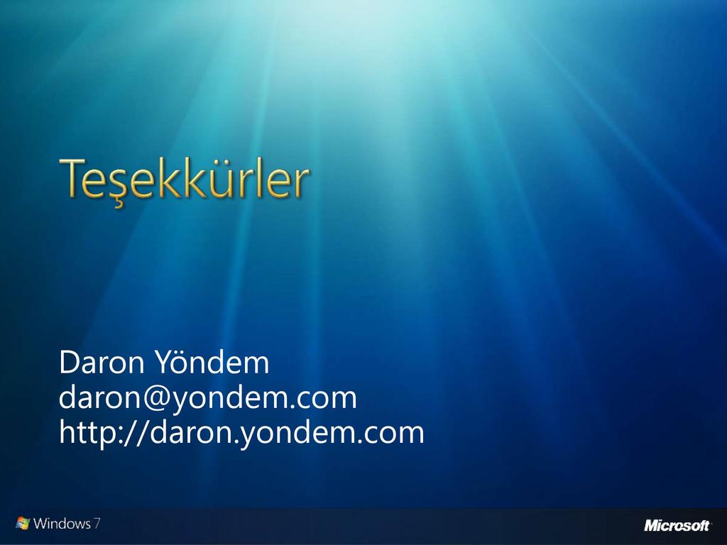 Daron Yöndem daron@yondem.com http://daron.yond...