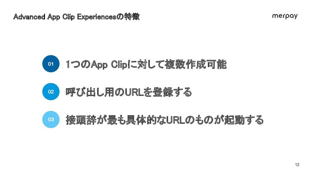 12 Advanced App Clip Experiencesの特徴 1つのApp Cli...