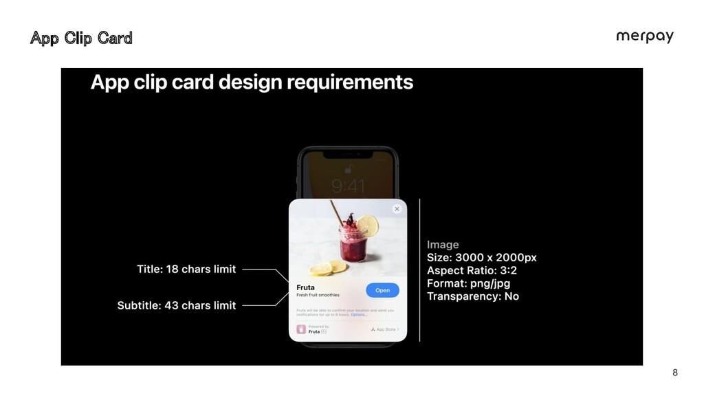 8 App Clip Card