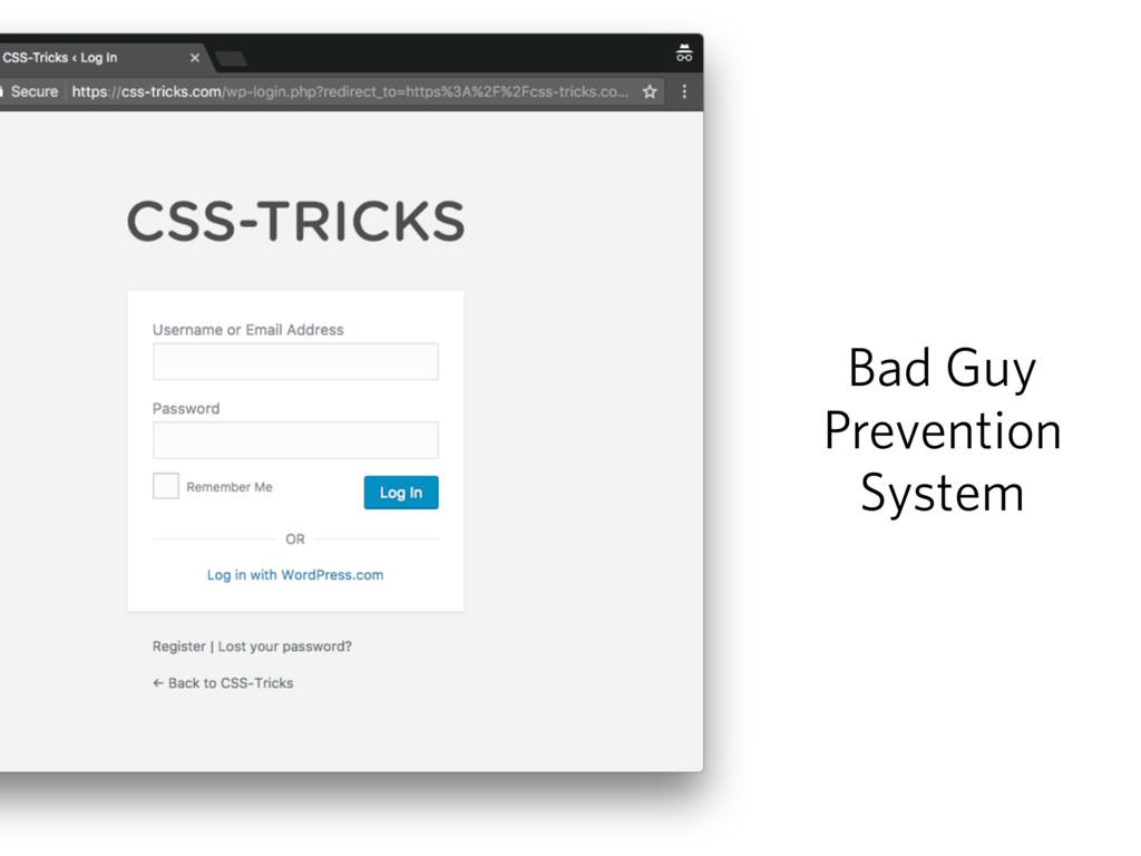 Bad Guy Prevention System