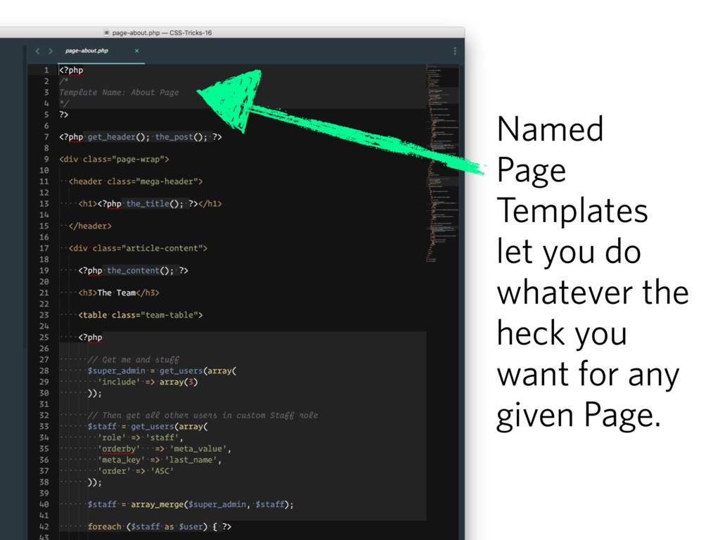 Named Page Templates let you do whatever the he...