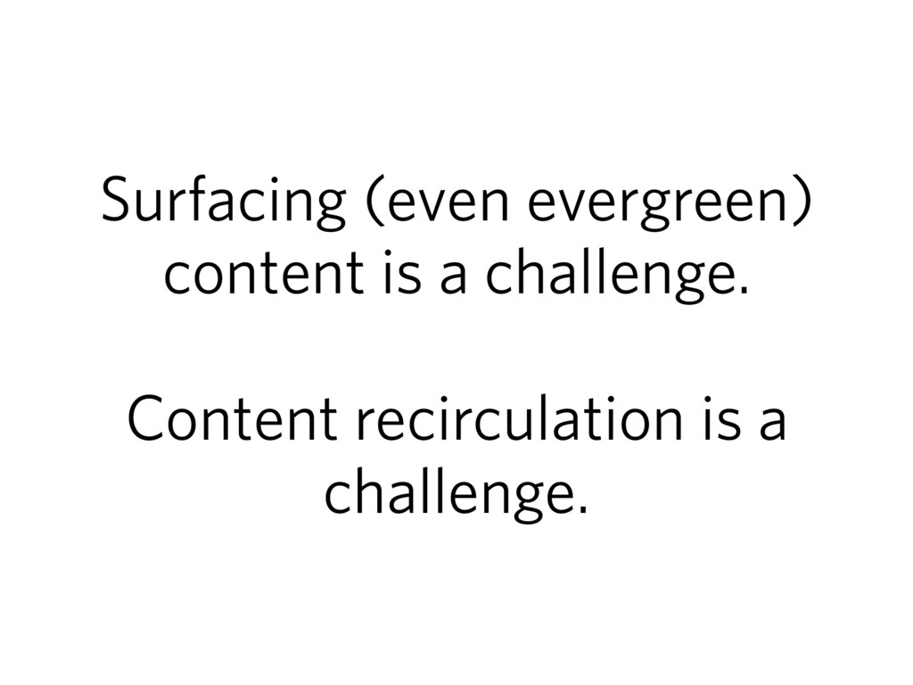 Surfacing (even evergreen) content is a challen...