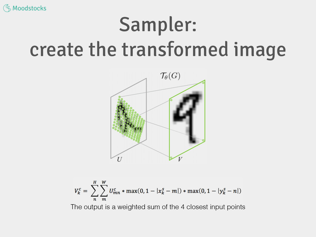 Sampler: create the transformed image The outpu...