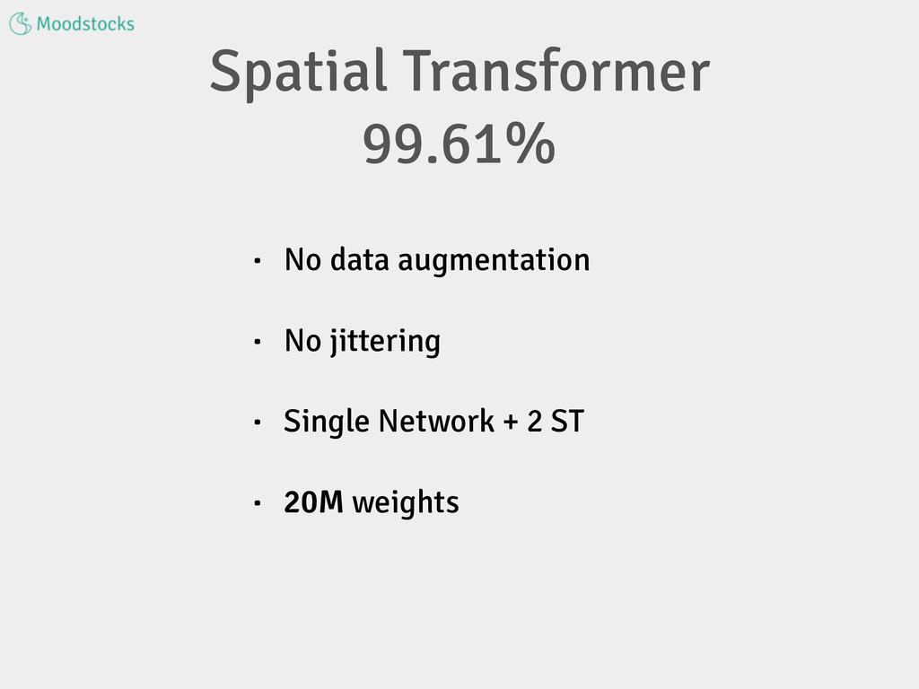 • No data augmentation • No jittering • Single ...
