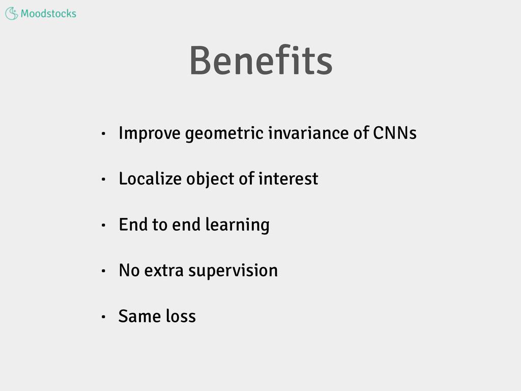 • Improve geometric invariance of CNNs • Locali...