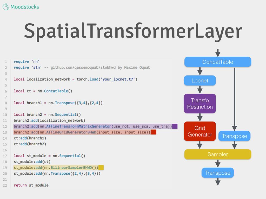 SpatialTransformerLayer Transpose ConcatTable S...