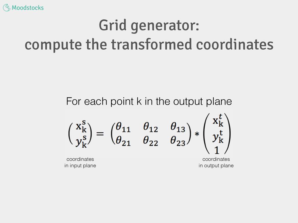 Grid generator: compute the transformed coordin...
