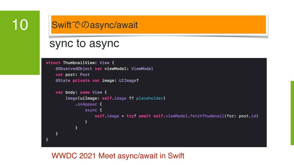 SwiftͰͷasync/await 10 sync to async WWDC 2021 M...