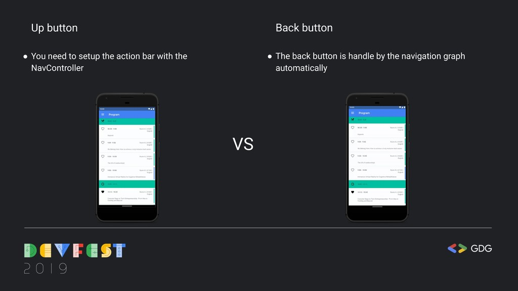 Up button ● You need to setup the action bar wi...