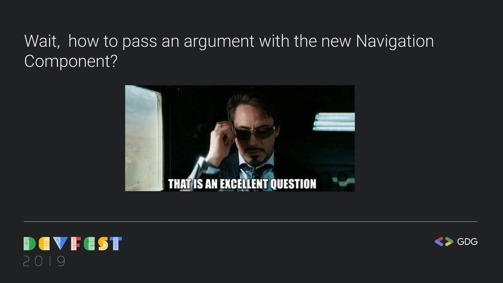 Wait, how to pass an argument with the new Navi...