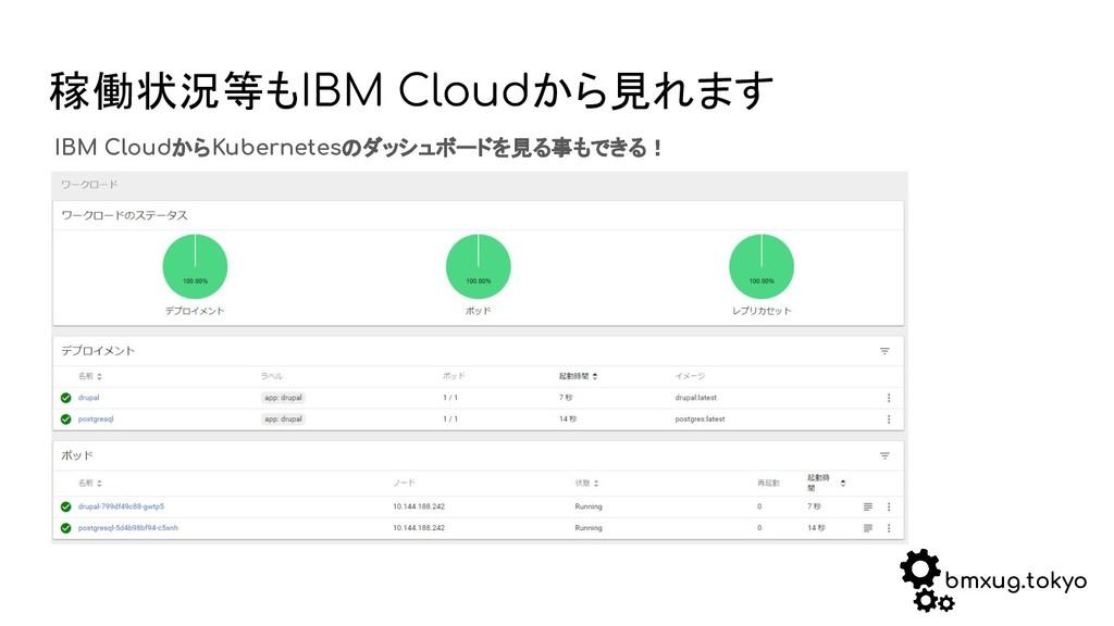 bmxug.tokyo 稼働状況等もIBM Cloudから見れます IBM CloudからKu...