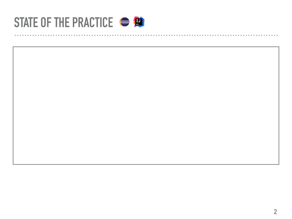 STATE OF THE PRACTICE 2