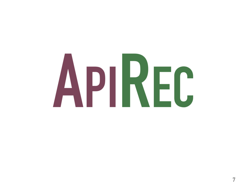 APIREC 7