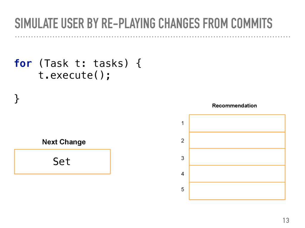 for (Task t: tasks) { t.execute(); } SIMUL...