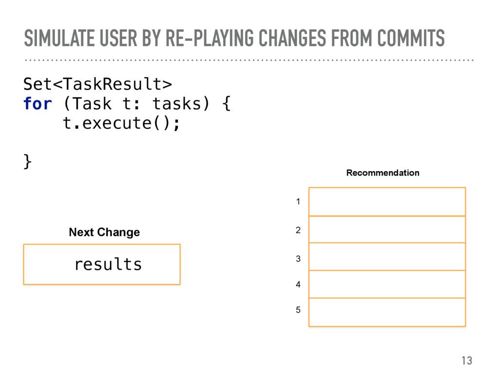 Set<TaskResult>  for (Task t: tasks) { t.ex...