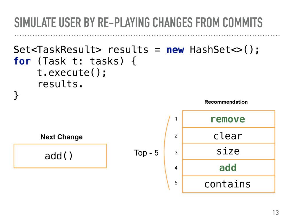 Set<TaskResult>  Set<TaskResult> results = n...