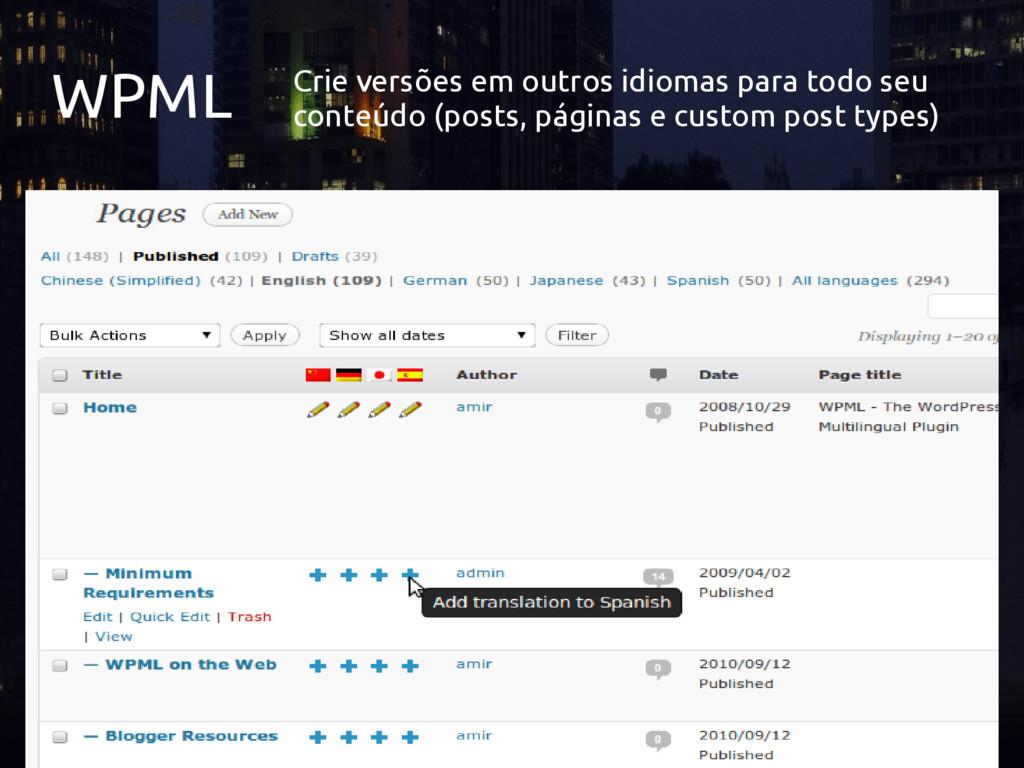 WPML Crie versões em outros idiomas para todo s...