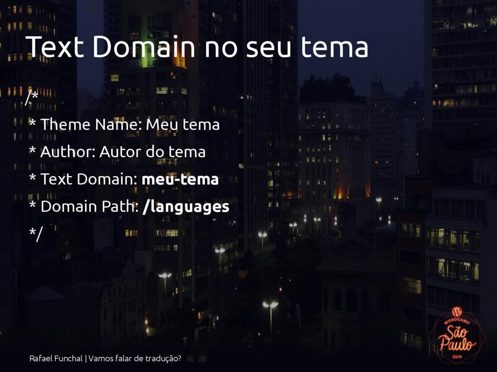 Rafael Funchal | Vamos falar de tradução? Text ...