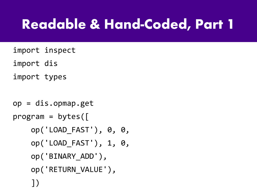 Readable & Hand-Coded, Part 1 import inspect im...