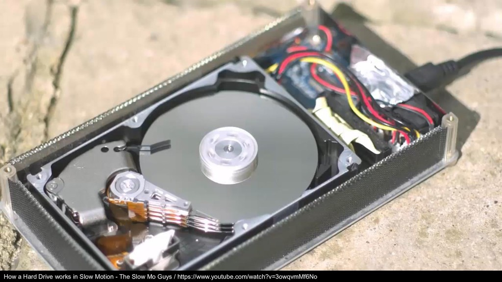 How a Hard Drive works in Slow Motion - The Slo...