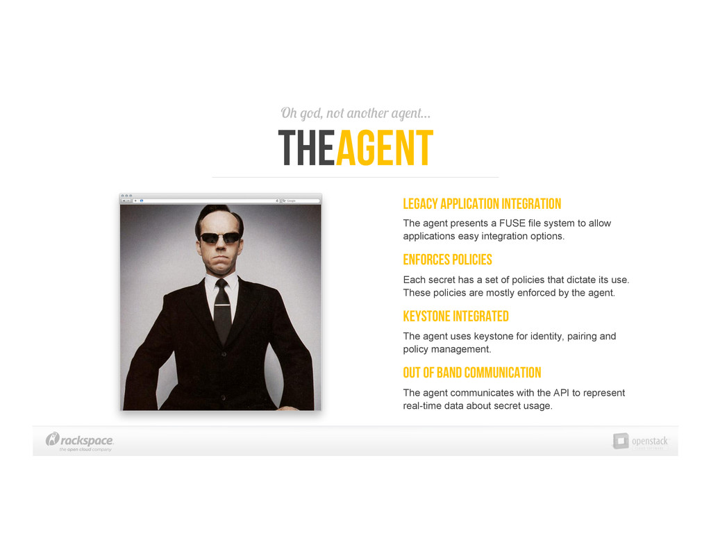 Oh god, not another agent… TheAgent Legacy Appl...