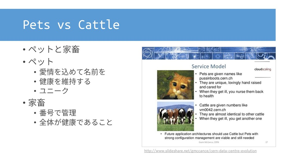 Pets vs Cattle • • • • • • • • http://www.slide...
