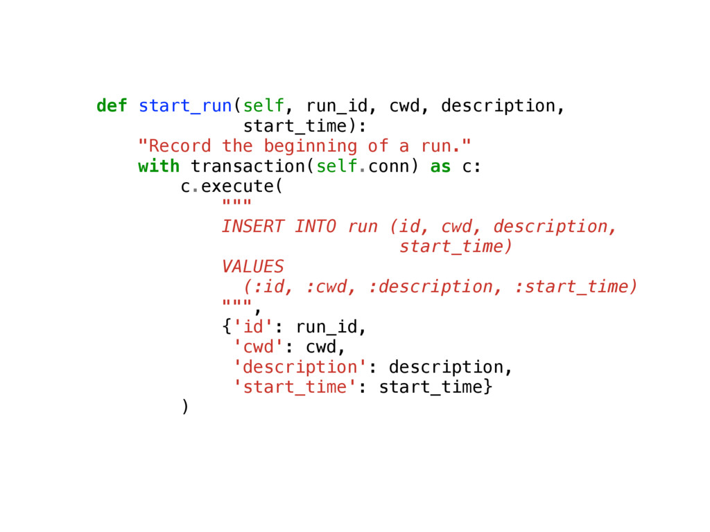 def start_run(self, run_id, cwd, description, s...