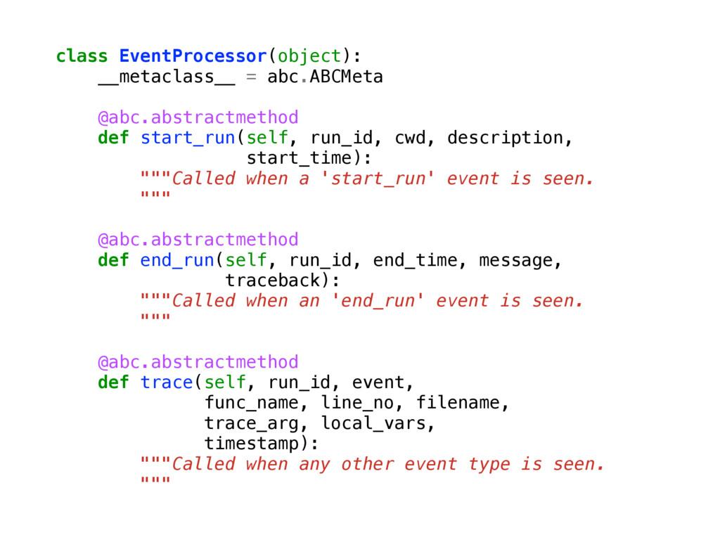class EventProcessor(object): __metaclass__ = a...