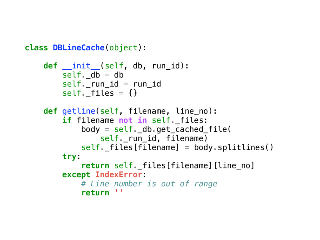 class DBLineCache(object): def __init__(self, d...