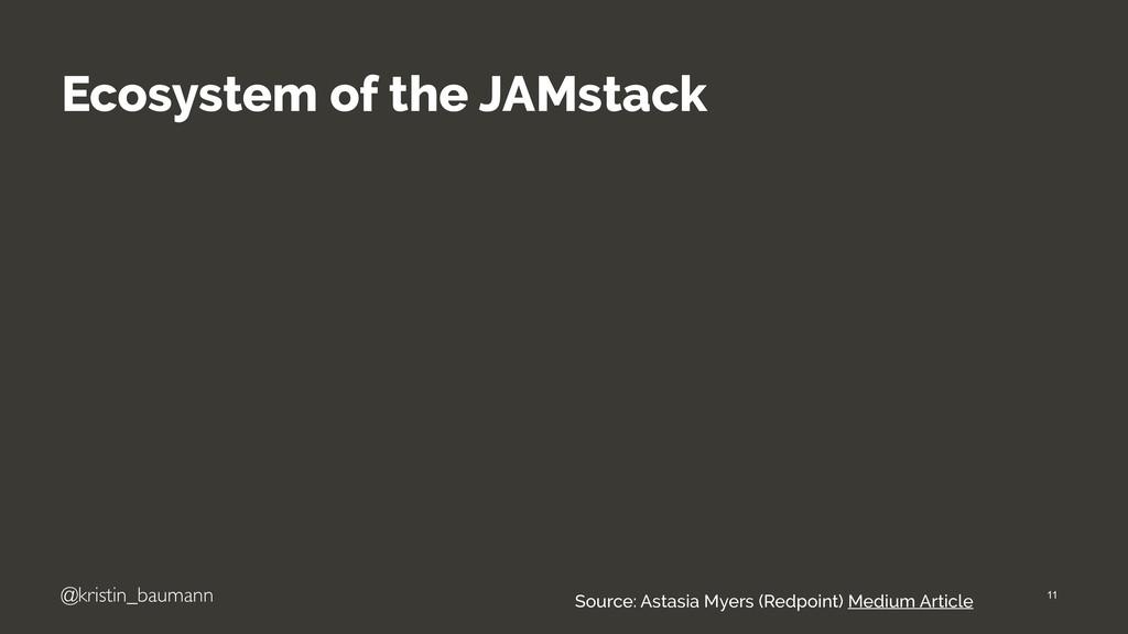 "@kristin_baumann Ecosystem of the JAMstack ""11 ..."