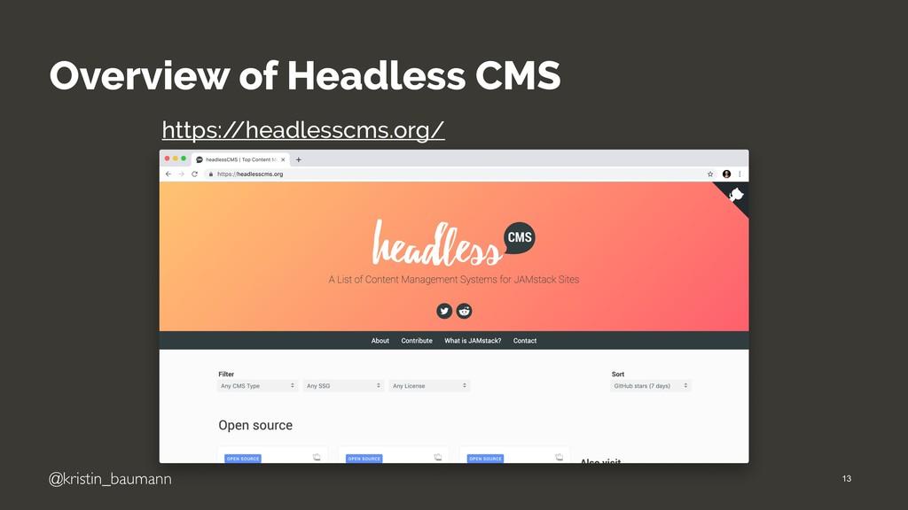 @kristin_baumann Overview of Headless CMS https...
