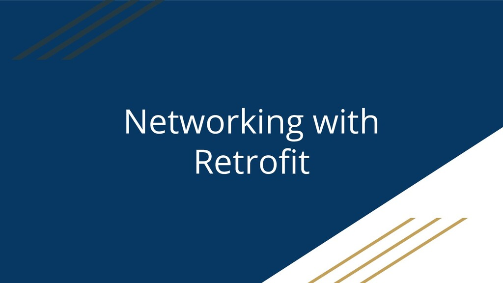 Networking with Retrofit