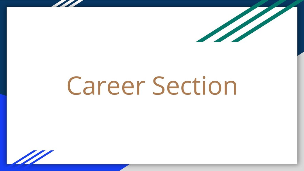 Career Section
