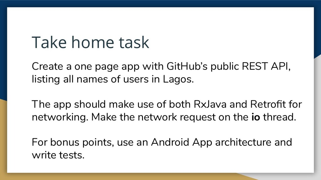 Take home task Create a one page app with GitHu...