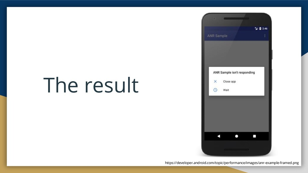 The result https://developer.android.com/topic/...
