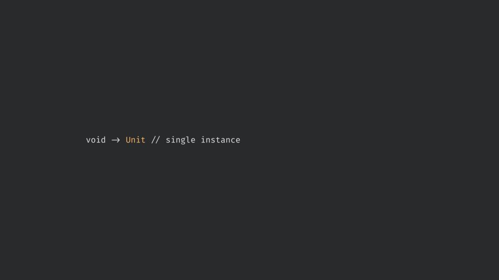 """void !' Unit !"""" single instance"""