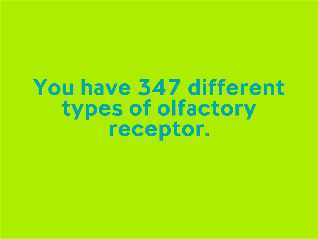 You have 347 different types of olfactory recep...