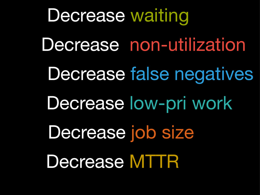 Decrease non-utilization Decrease waiting Decre...