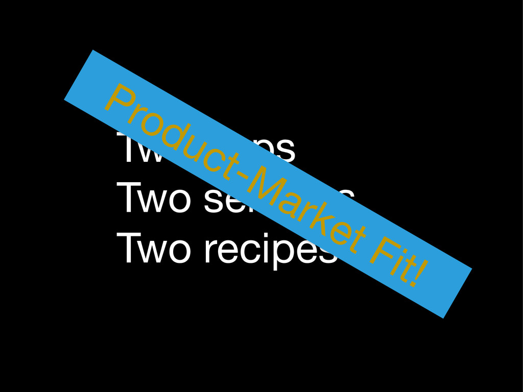 Two apps  Two services  Two recipes Product-Mar...