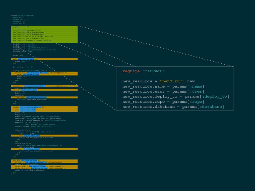define :ruby_app_deploy,! user: nil,! deploy_to...