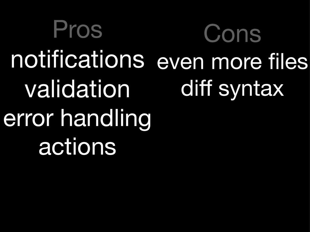 Pros  notifications  validation  error handling ...