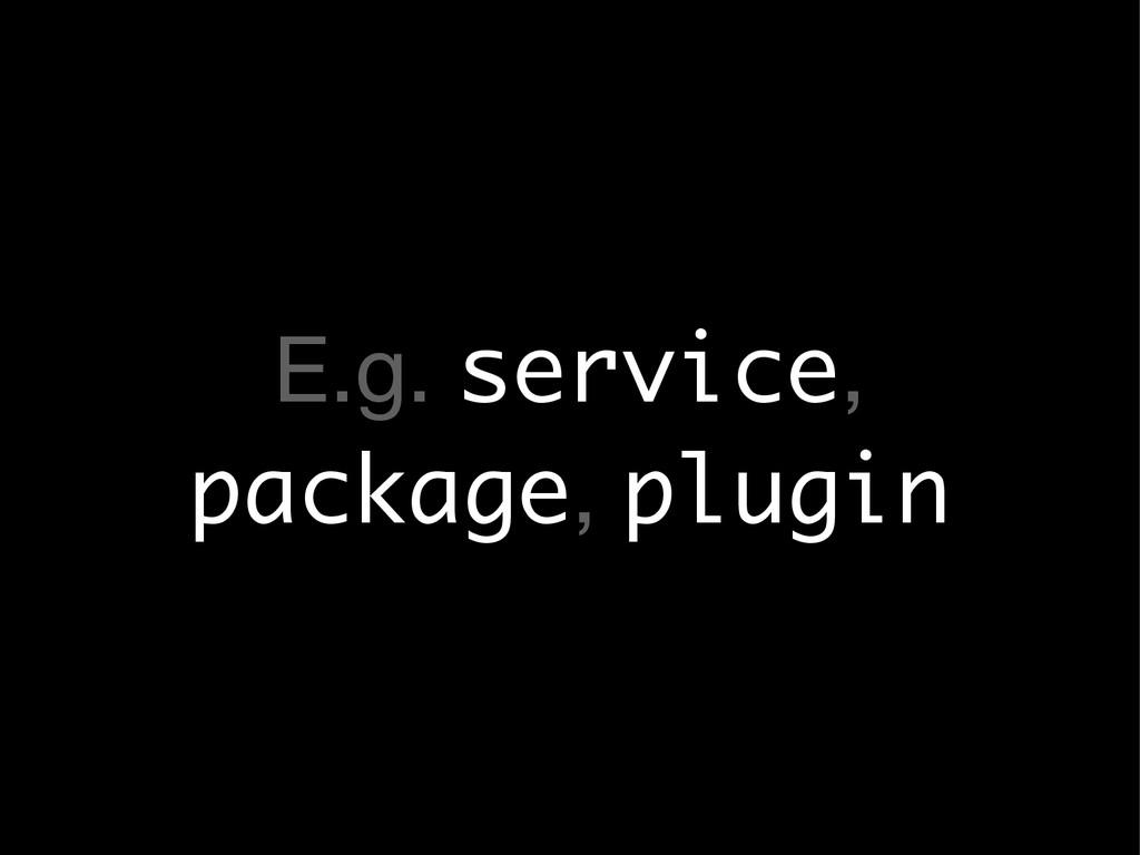 E.g. service, package, plugin
