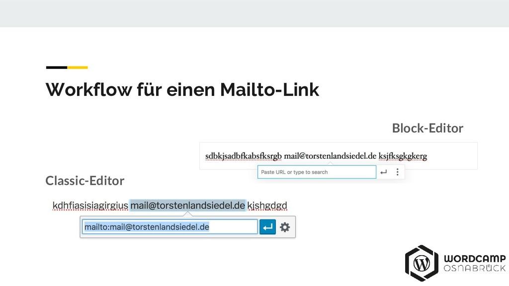Block-Editor Classic-Editor Workflow für einen ...