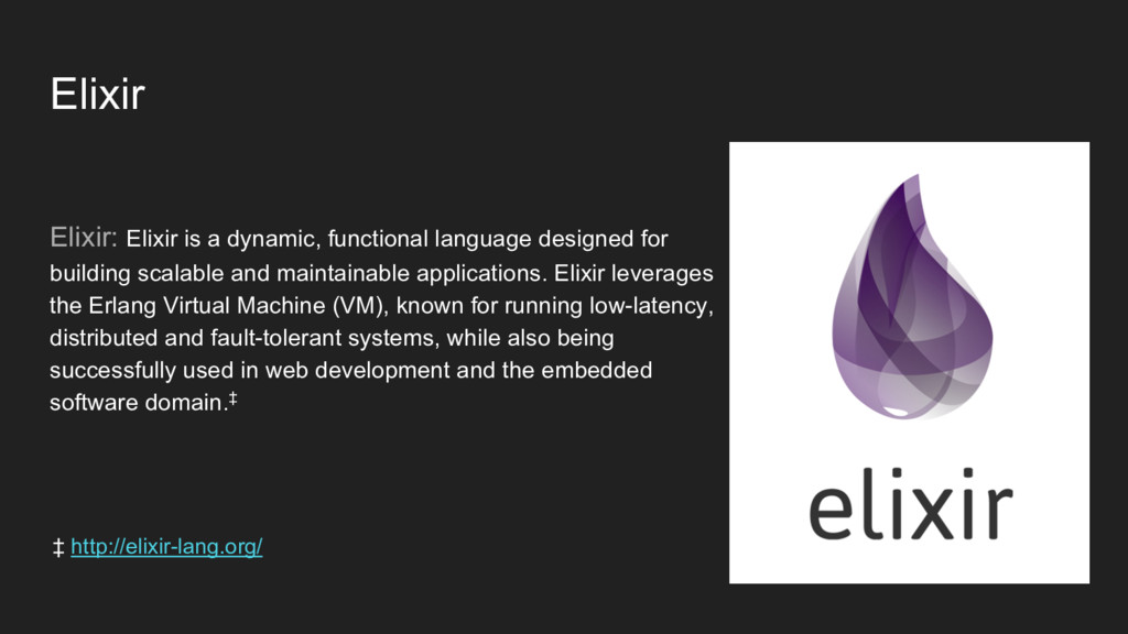Elixir Elixir: Elixir is a dynamic, functional ...
