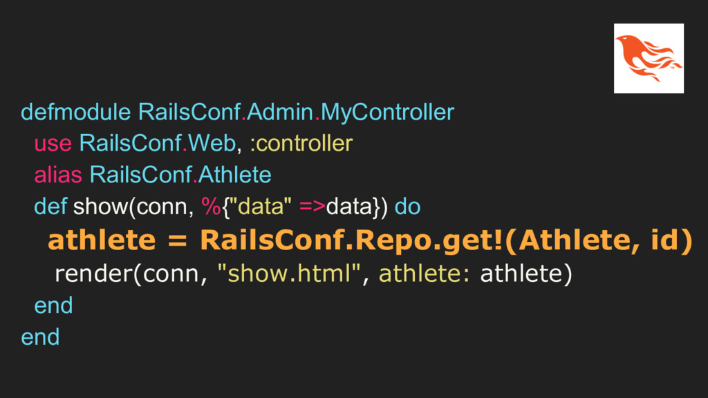 defmodule RailsConf.Admin.MyController use Rail...
