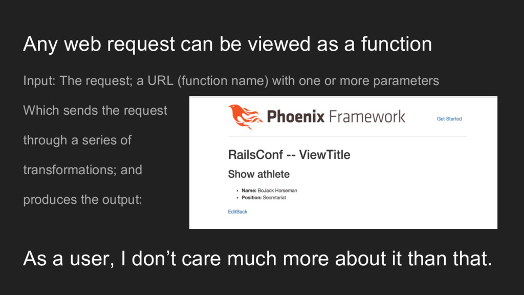 Any web request can be viewed as a function Inp...