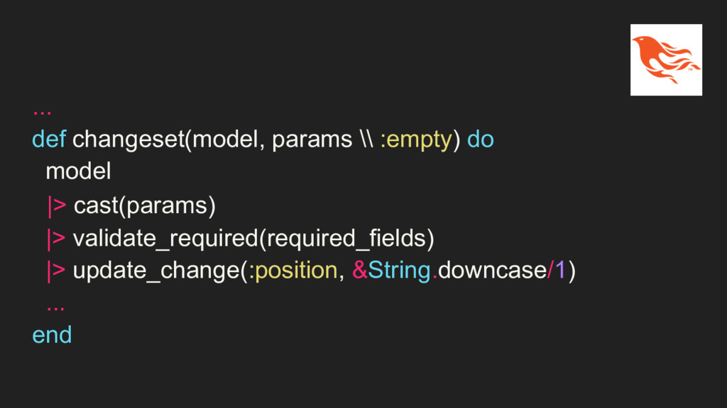 ... def changeset(model, params \\ :empty) do m...